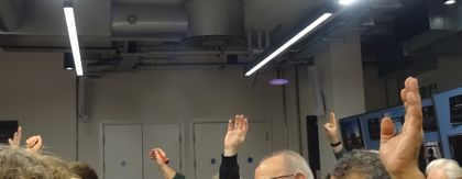 A show of hands at a London Freelance Branch meeting