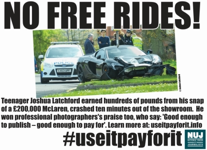 Campaign graphic: No free rides!