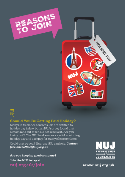Holiday pay poster; Image: NUJ